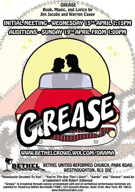Westhoughton's Bethel Crowd - Grease the September 2015 Youth Theatre production