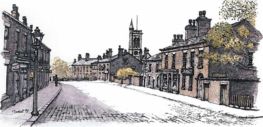 'Aspects of Howfen' - specially commissioned images by local artist Tom Newton - Westhoughton Street Scene