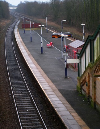 Daisy Hill Station today viewed from road bridge