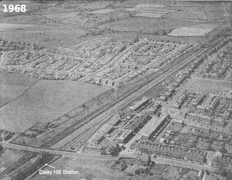 The Daisy Hill area of Westhoughton in 1965, mostly post-war development