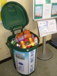 Grub Tub for food donations at Hope Centre