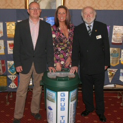 Dave Bagley of Urban Outreach hands over another Grub Tub to Westhoughton Community Network