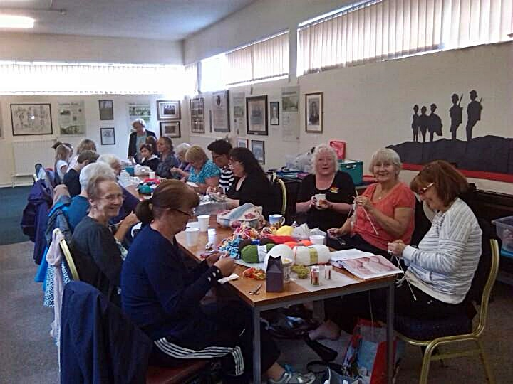 Rainbow Crafts group meeting and sharing skills at Westhoughton Library