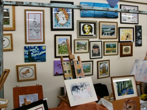 Westhoughton Art Group display at WCN Community Fayre 21 April 2012